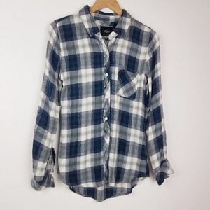 Rails | Plaid Blue White Flannel Shirt XS